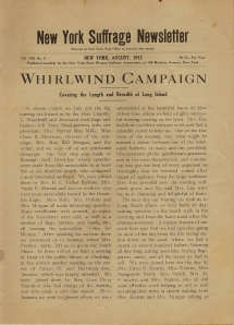 Long Island's 1912 campaign