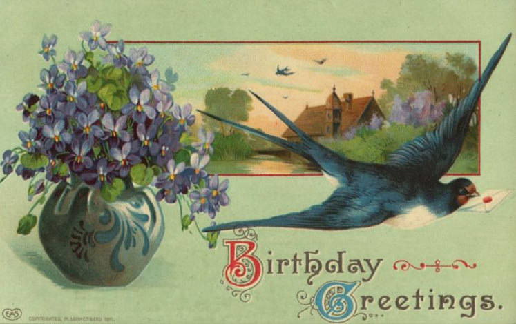 Vintage birthday greetings