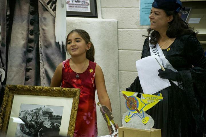 Lavina Gray and Carmen de la Luz Luna Randall at the Española Library centennial event on August 23, 2012