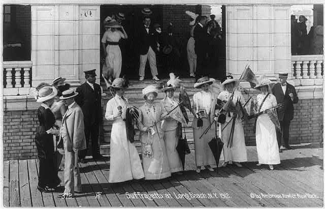 Suffragists at Long Beach, Long Island