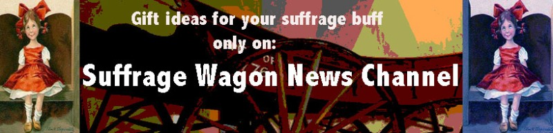Suffrage Wagon logo for the holidays