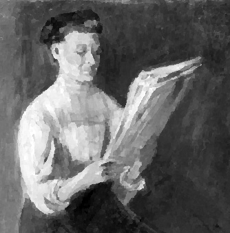 Nagy_Woman_reading_Newspaper_1918