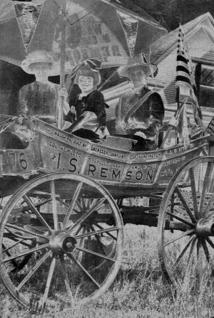 "The ""Spirit of 1776"" suffrage wagon"