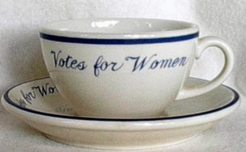Suffrage tea cups