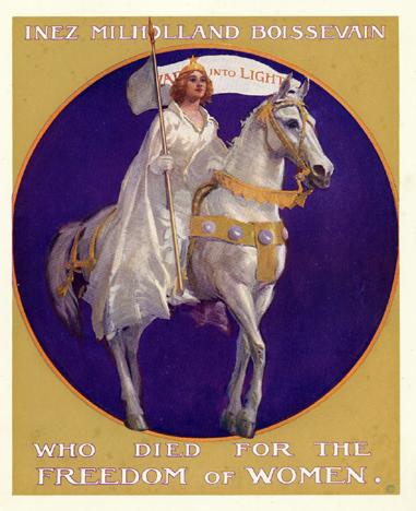 Inez Milholland as Joan of Arc