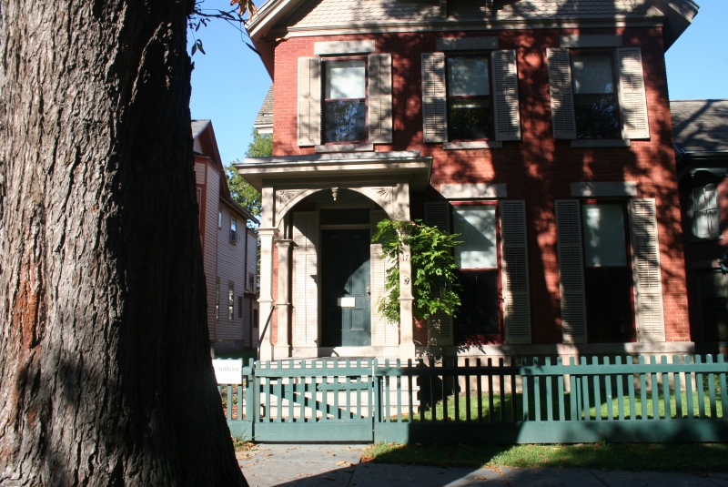 Susan B. Anthony House and chestnut tree