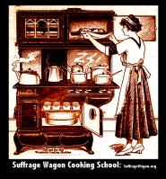 Suffrage Wagon Cooking School