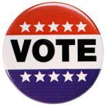 Vote graphic on Suffrage Wagon Nes Channel