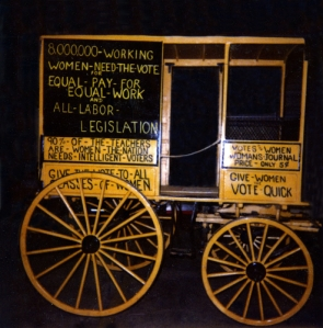 Suffrage Wagon features suffrage wagon in Smithsonian collection