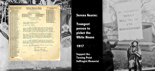 Serena Kearns, youngest White House picket