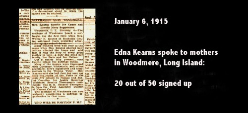 January 15, 1915: What Edna Kearns did that day 100 years ago