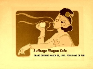 Opening of Suffrage Wagon Cafe