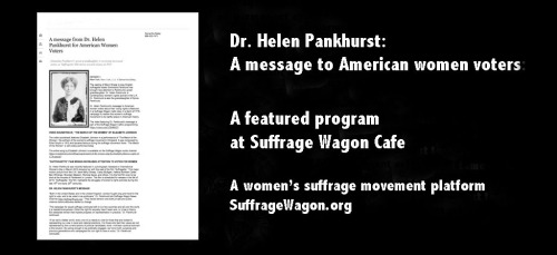 Dr. helen Pankhurst and her message to American women voters