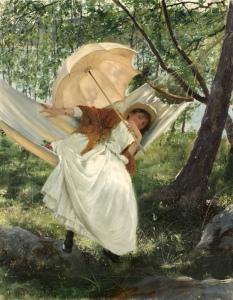 Robert Thegerström (Swedish artist, 1857–1919) Laziness 1887