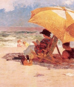 Edward Henry Potthast (1857 - 1927)  Detail At the Seaside
